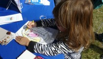 Child coloring in Jane