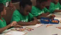 Mt. Olive Kids Working On Some Coloring Activities