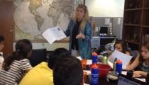 Dona giving a presentation