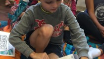 Anthony (9) Checks Out Book 1!